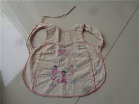 建国初期刺绣小朋友图孩童肚兜