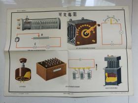 1959年电工学挂图:可变电阻