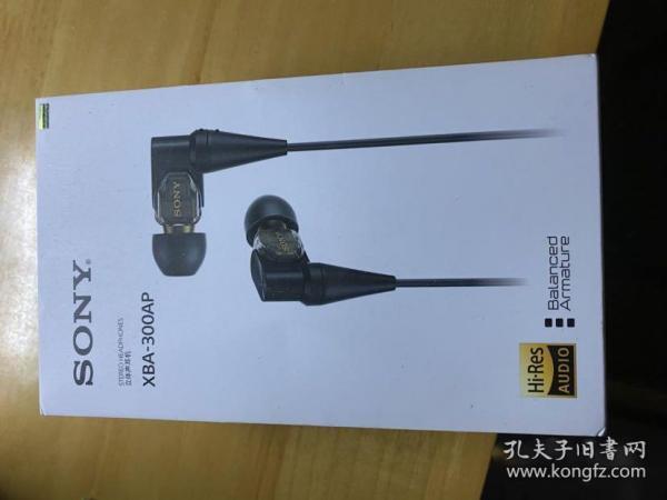 ??索尼(SONY)XBA-300AP 高解析度动铁耳机 黑色