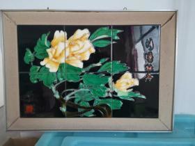 出洛阳牡丹瓷版画
