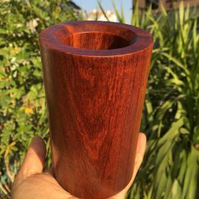 缅甸花梨木木雕笔筒整个木头做成高13厘米直径8厘米