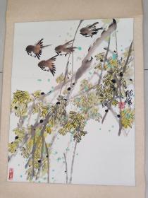 中国美协北京海淀美协副主席河南著名画家李桃修作品3平尺终身保真