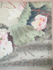 山东省美协会员王曼两幅斗方国画作品