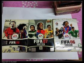 游戏光盘 FIFA  06+ FIFA  07+ FIFA 08【3盘合售】包中通快递
