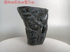 清代传世雕工不错的老杯子.0