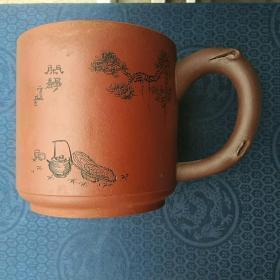 浩然斋 集藏紫砂器之五十二:紫砂名人 周小春 制  松下品茗 紫砂杯