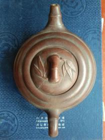 浩然斋 集藏紫砂器之五十三:佚名 制   包浆浑厚 竹鼓 紫砂壶
