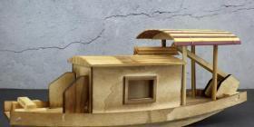 大型天然木雕木船摆件长28厘米