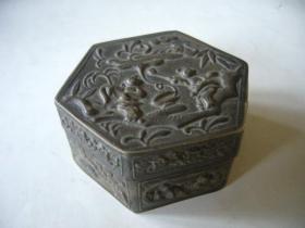 精美老银盒