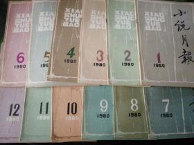 小说月报:  1980年1-12期 全年(1980年1月  总1号创刊号