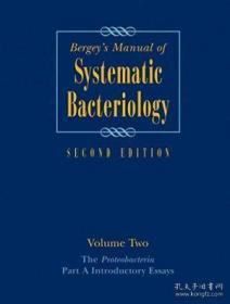 Bergeys Manual? Of Systematic Bacteriology: Volume Two: The Proteobacteria Part A Introductory Ess