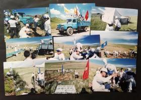 2000年成都大学和联合利华西部友谊林老照片10张合售,汽车行驶在若尔盖