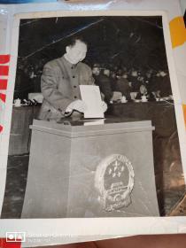 老照片:华国锋投票 照片(30cm×23cm)