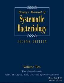 Bergeys Manual? Of Systematic Bacteriology: Volume 2: The Proteobacteria Part B: The Gammaproteoba