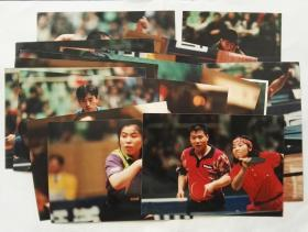 2000年前后体育老照片,乒乓球队员比赛场景老照片18张合售