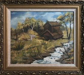 风景油画作品D38