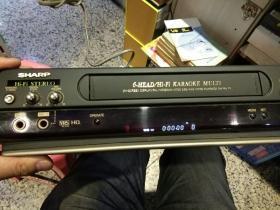 日本品牌SHARP 夏普MH72六磁头HIFI立体声录像机一台 配有原装遥控器一个【图片为开机状态下拍照正常显示】【老师家回收,保存的很好】日本原装夏普录像机
