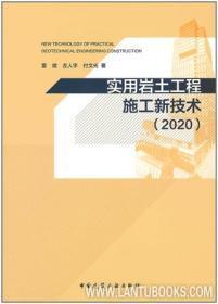 实用岩土工程施工新技术(2020) 9787112244430 雷斌 左人宇 付文光 中国建筑工业出版社 蓝图建筑书店
