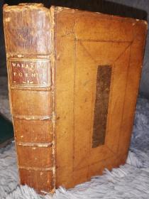 1730年  The Works of Edmund Waller Esq in Verse and Prose  《埃德蒙·沃勒诗文集 》 精美藏书票 少许插图 1本全
