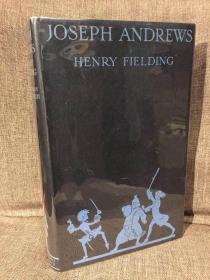 Joseph Andrews(亨利·菲尔丁《约瑟夫·安德鲁斯》,Norman Tealby漂亮插图,Priestley导读,布面精装,烫金装饰大开本,毛边本,罕见带完美护封,1929年初版古董书)