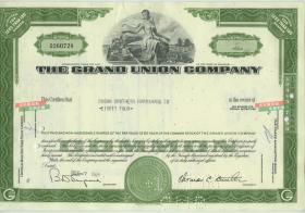 1965年大联合公司(后主营超市百货连锁)股票84股,前身是成立于1872年的琼斯兄弟茶叶公司--雕刻版钱币级别精印
