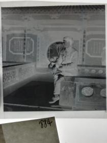 七十年代120底片1张 文革题材 标语诗词 六亿神州尽舜尧 春风杨柳万千条