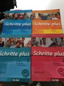 Schritte plus—2、3、4、5【书上有水渍,书内有笔记图画】第4、5册附光盘