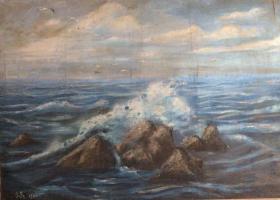 高泉海景油画作品