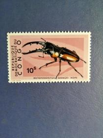 外国邮票   刚果邮票 1971年 甲壳虫 (无邮戳新票)
