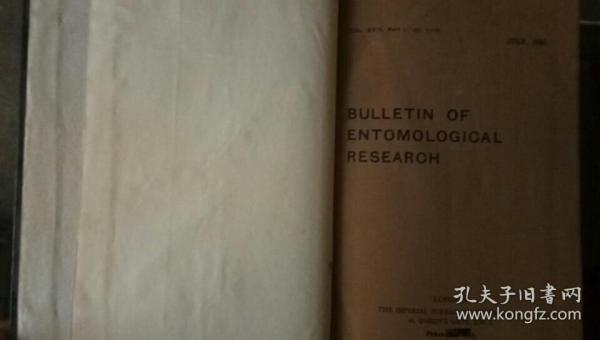 BULLETIN OF ENTOMOLONGICAL RESEARCH