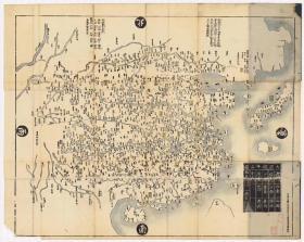 0088古地图1729 大明都城图。纸本大小105.49*132.44厘米,宣纸原色仿真。微喷复制