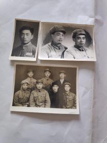 老照片 中国人民解放军照片 3张 (50年代)