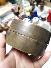 清代铜盒,做工不错,挺厚的,包真包老,售出不退。