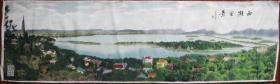 织锦—西湖全景图沙孟海题