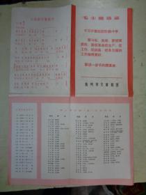 老地图:杭州市交通简图【有歌曲;大海航行靠舵手和毛主席语录】新旧路(巷)名对照