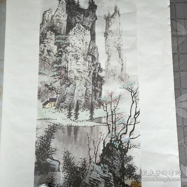 珂罗版宣纸画,昭明