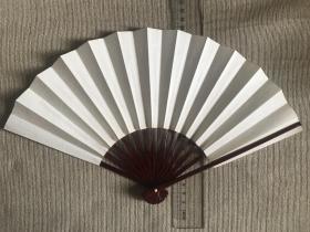 怀袖雅物   日本    漆骨空白折扇    雅致折扇一把! 书画佳品   长度20cm