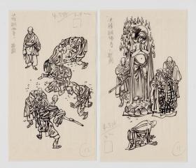 魏忠善插图原稿 W022 决胜铜佛寺 2祯
