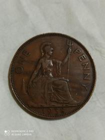 老铜币,1938年。