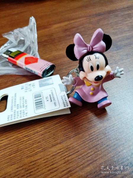 上海迪士尼  旅游纪念品  米妮   锁匙扣  钥匙圈