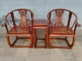 老家具海南黄花梨皇宫椅木器
