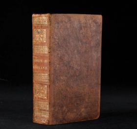 【含多幅精美版画!1831年伦敦出版《英格兰历史》1册全】皮革精装,书脊烫金压花,蘸花口。