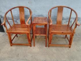 老家具海南黄花梨圈椅木器
