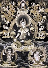 ️【绿度母】高端纽瓦丽,来自世界上最古老的唐卡民族 尼泊尔名家大师经典之作