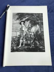 1877年高清照相版《查理一世狩猎像》—比利时弗拉芒画派巴洛克风格画家安东尼·凡·戴克(Sir Anthony van Dyck,1599 - 1641年)作品 45.1*31.4厘米