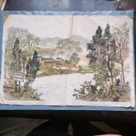 毛泽东旧居  毛泽东同志少年时代游泳过的地方  段千湖作
