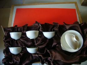 白瓷小茶具1套