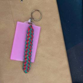 圣诞风情编织钥匙链(带公交卡套)