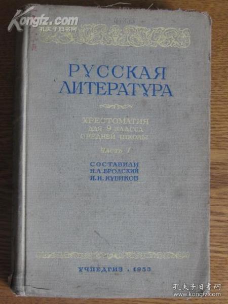 俄文版原版 俄罗斯文学 九年级