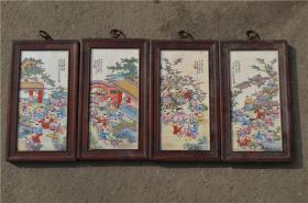 景德镇陶瓷大师手绘瓷板画171120066人物山水花鸟装饰画客厅摆件